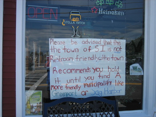 The town recommends you hold it. | by passiveaggressivenotes