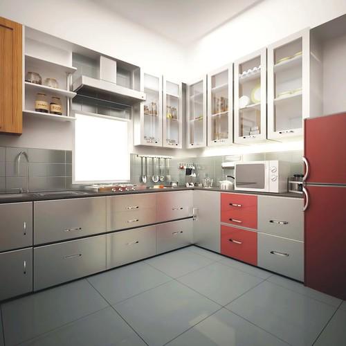 Kitchen Design Software Freeware: Designer Modular Kitchen With Chimney & Hub In Nandan Insp