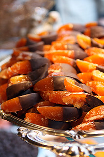 candied oranges in chocolate | by David Lebovitz