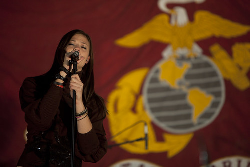 Ayla Brown performs for troops in Afghanistan | by United States Marine Corps Official Page