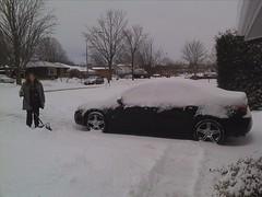 It snowed