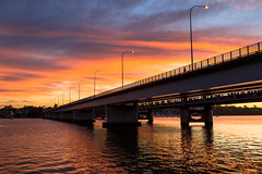 Sunset over the Georges River, at Tom Uglys Bridge