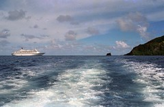 Royal Viking star at Pitcairn Island