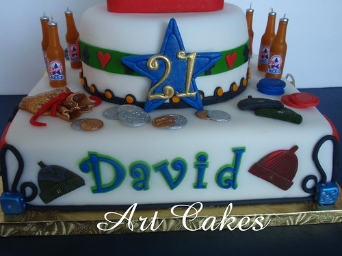 Cake Name Art : 21 Birthday Cake - Name, Beer s, Money, Poker Chips & Hats ...