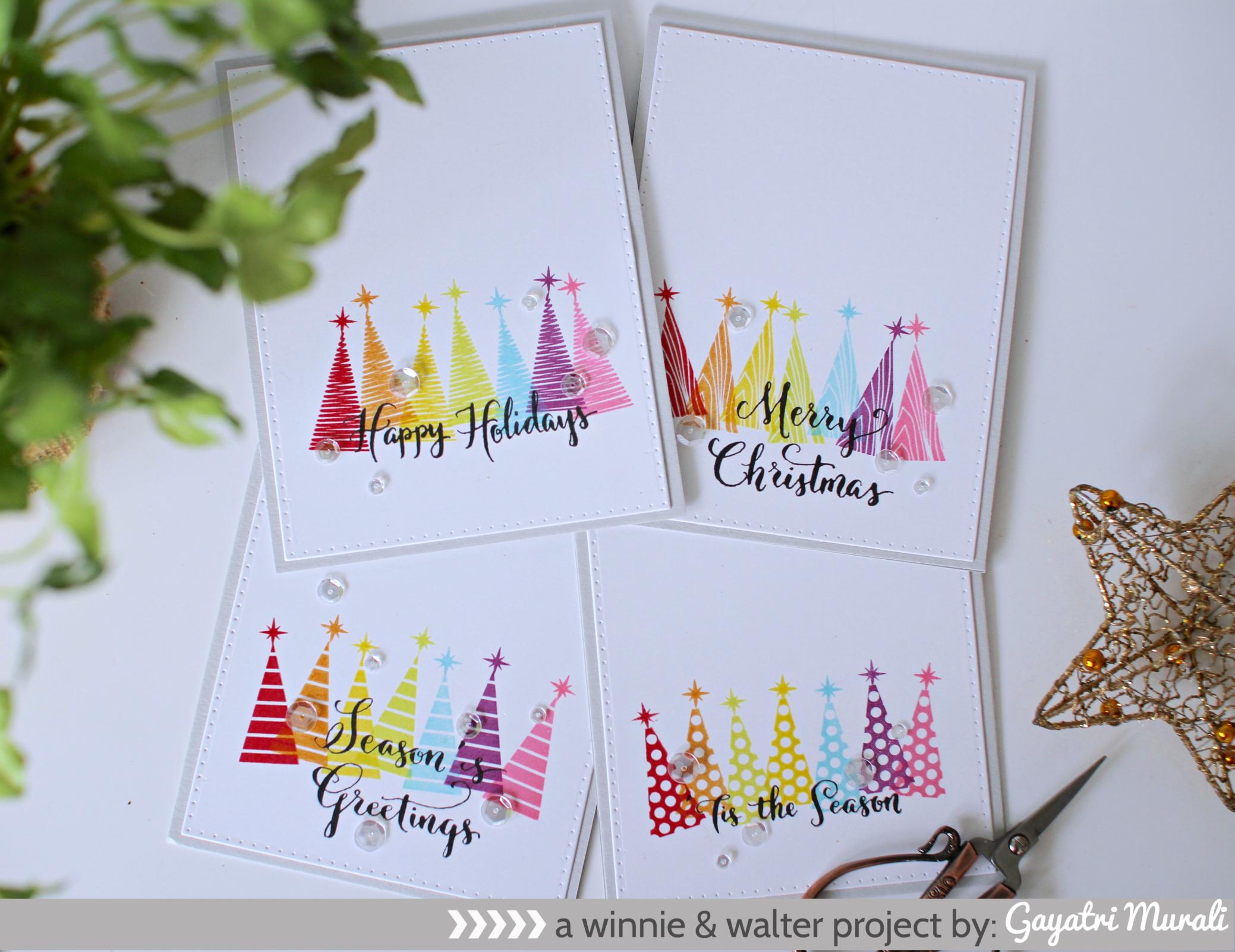 gayatri_A set of holiday cards1