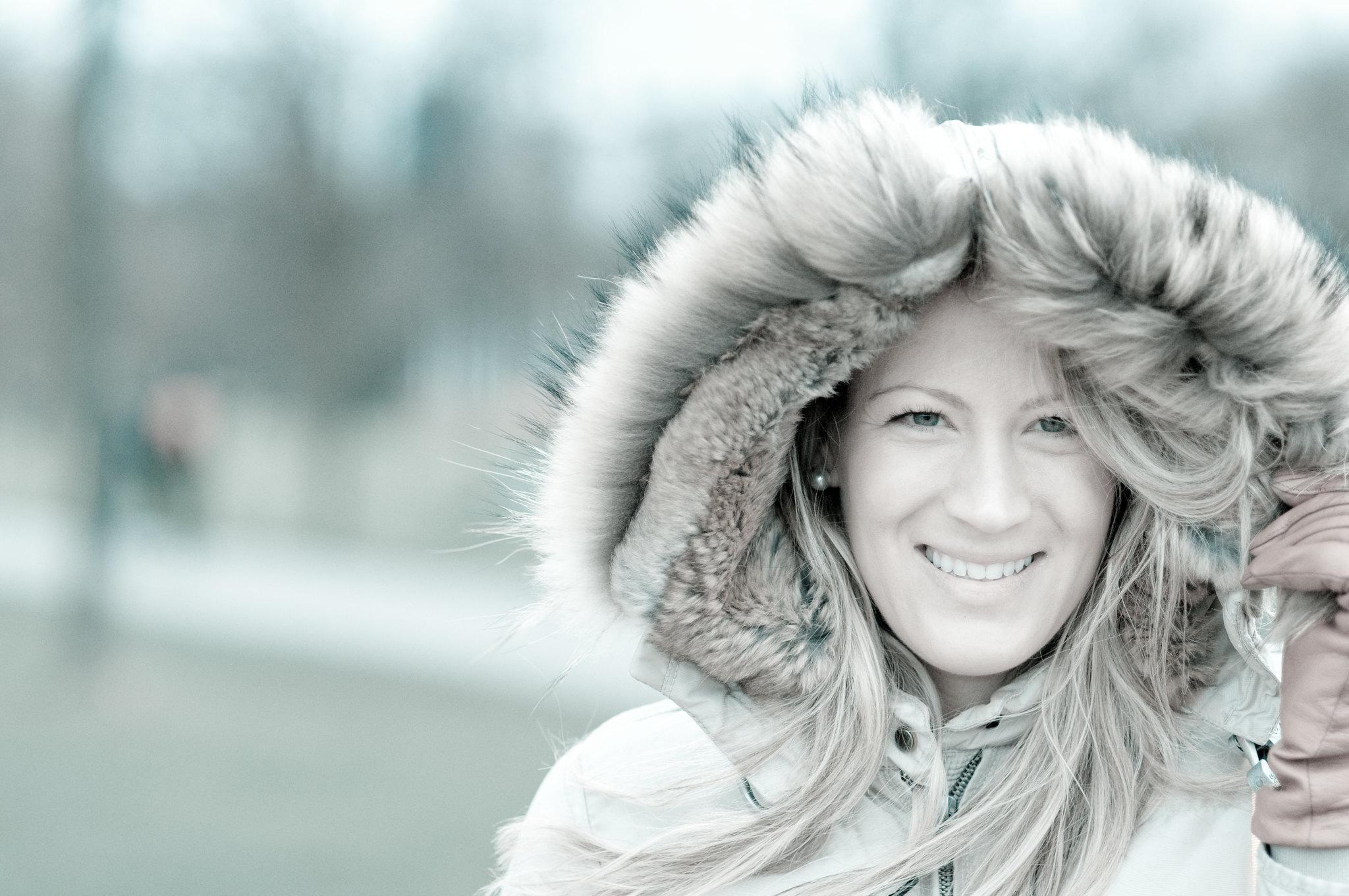 Warm in cold tones