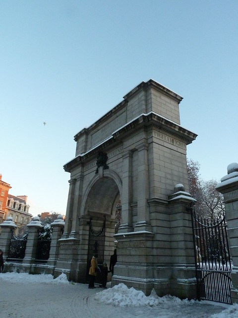 Arch at St Stephens Green in the snow 2