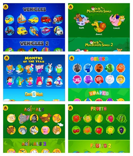 KidloLand App Songs Categories