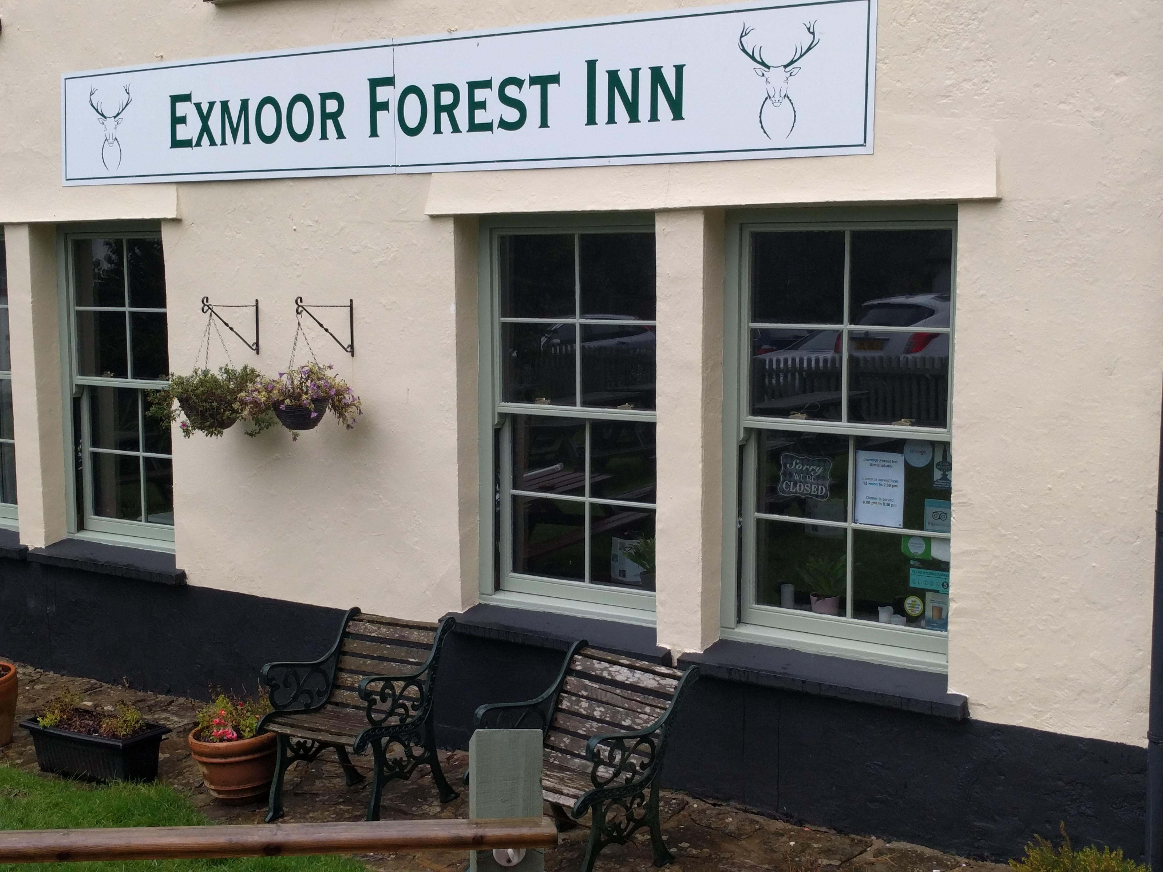 First of several closed pubs - Simonsbath #sh #twomoorsway #DevonC2C