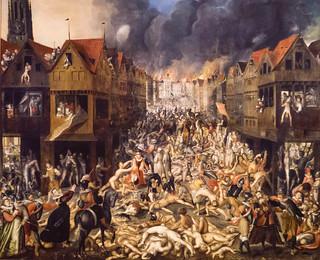 Wüten der 'spanischen Furie' am 4.11.1576 in Antwerpen (anonym) - Museum aan de Stroom - Machtenfaltung