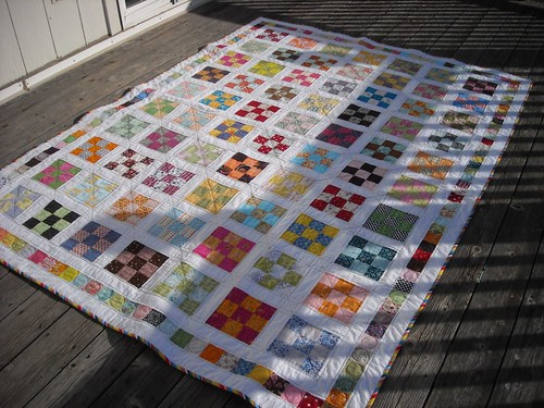 9-patch quilt finished | by vickivictoria