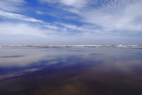 Washington State/ Reflection/ Clouds/ Pacific Ocean/ Seabrook/ WA/ USA | by Jeff Rose Photography