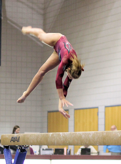 OU Gymnastics at TWU - Beam