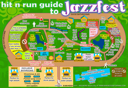 Ian Hoch's Hit N Run Guide to Jazzfest Presented by nolaDefender.com | by NOLADefender