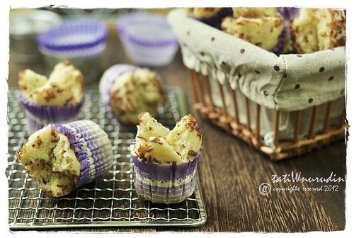 cheese steamed cake dotted | by Tati Widharti