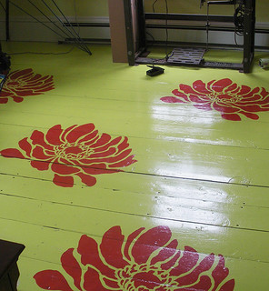 Stenciled floor. Beautiful wall stencils by Cutting Edge Stencils. | by cuttingedgestencils