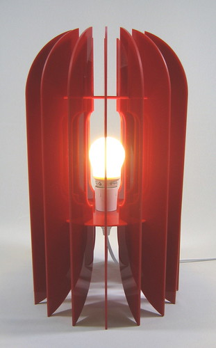 Red Kea table lamp facing up | by nzinteriordesign