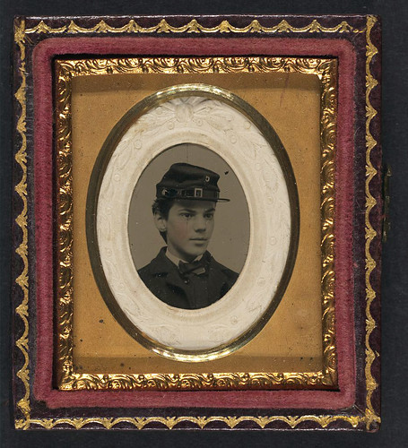 [Unidentified young soldier in Union uniform and Company C kepi] (LOC) | by The Library of Congress