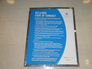 Simon Malls Code of Conduct Poster | by The Orion VII