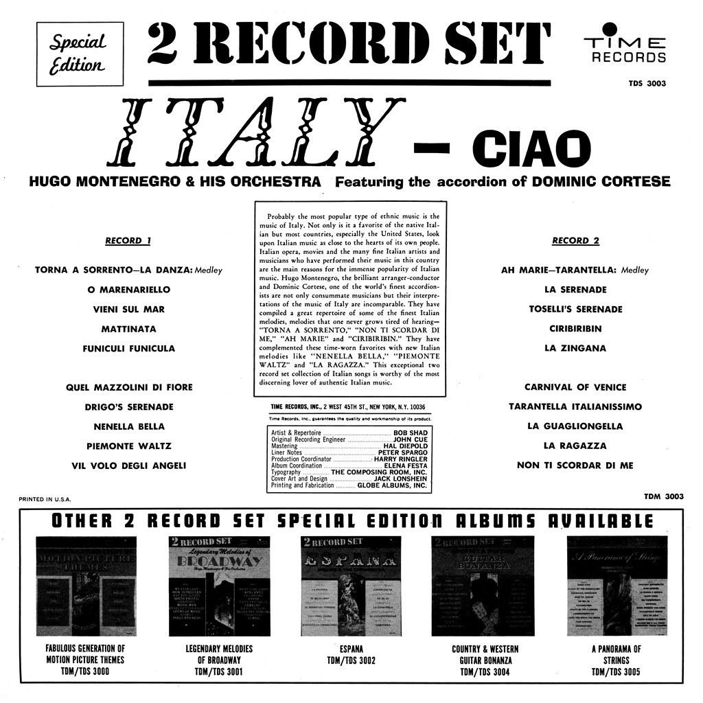 Hugo Montenegro - Ciao Italy
