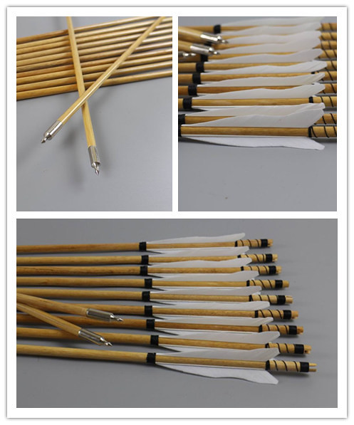 handmade wooden arrows