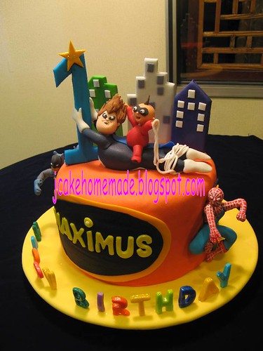 Superhero And The Incredibles Theme Birthday Cake Flickr
