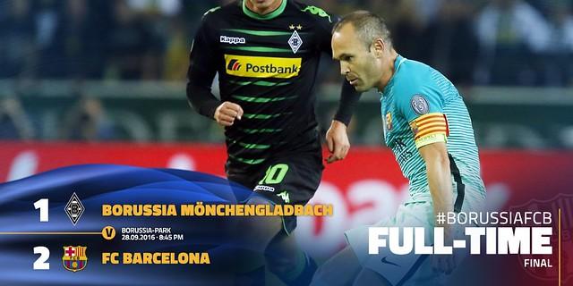Champions League - Grupos (Jornada 2): Borussia Mönchengladbach 1 - FC Barcelona 2