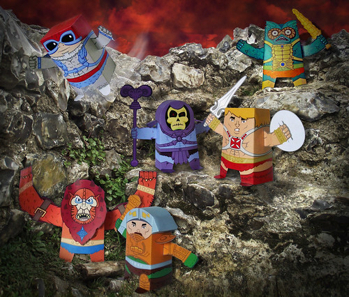 Masters of the Universe Paper toys wave 1 by designlad | by Designlad1
