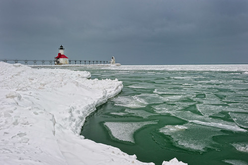 """Wintergreen""  St. Joseph Northpier Lighthouse, St. Joseph, Michigan 