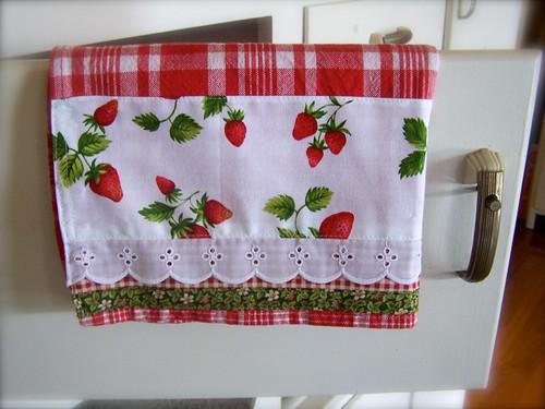 Strawberry Kitchen Decor This Strawberry Tea Towel
