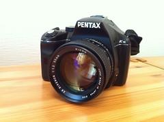 PENTAX K-m + RICOH XR RIKENON 55mm F/1.2