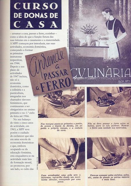 Boletim da M. P. F., Nº 2, Janeiro 1941, Menina e Moça, Nº 35, Março 1950, Curso de Donas de Casa