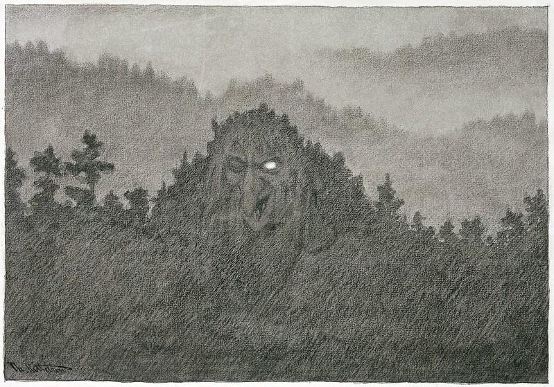 Theodor Kittelsen - The Forest Troll , 1892