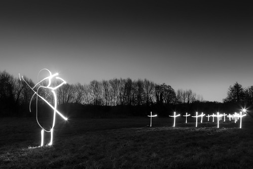 Some Corner Of A Field (Black and White Light Painting) | by flatworldsedge