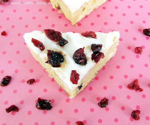 Cranberry Bliss Bars | by CinnamonKitchn