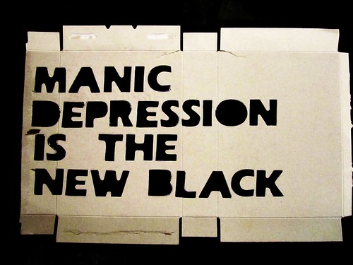 manic depression is the new black / stencil | by alshepmcr