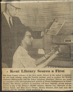 Kent District Library was the first in the nation to produce its own book catalog. | by Kent District Library