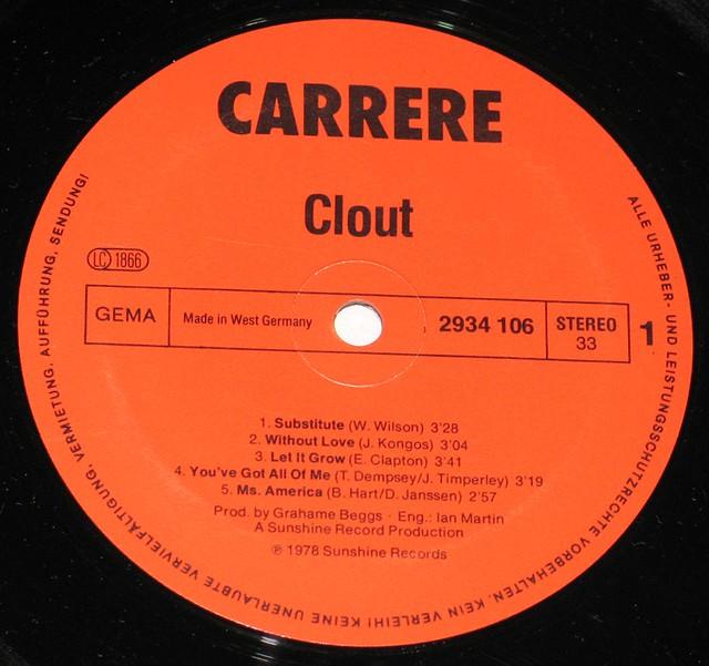 "CLOUT SELF-TITLED SUBSTITUTE 12"" vinyl LP"