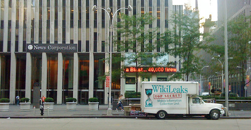 Wikileaks truck at Fox News | by Wikileaks Mobile Information Collection Unit