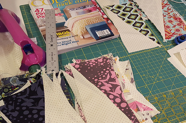 Twizzle Quilt Half-Rectangle Blocks