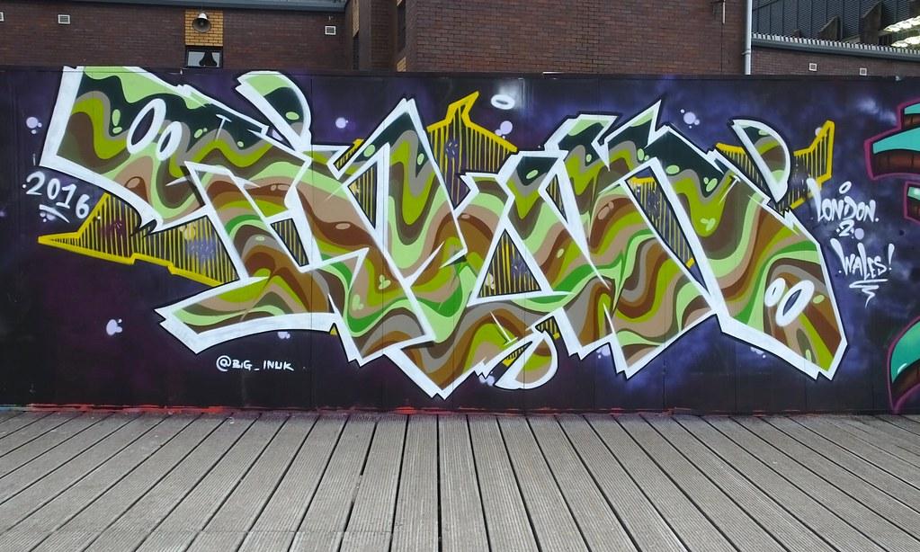 Street art millennium walkway, Cardiff