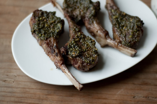 pistachio, mint, & spice crusted lamb chops | by TheSophisticatedGourmet