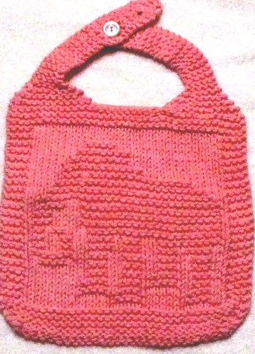Free Knitting Patterns For Baby Bibs : KNITTING PATTERN -I ELEPHANT BIB PATTERN Flickr - Photo Sharing!