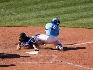 The throw wasn't quite there, but Pena couldn't hold on to it anyway. Another Chicago run. :( | by Minda Haas Kuhlmann