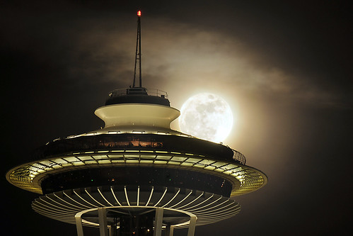 The Supermoon and Needle | by Paul Conrad Photography