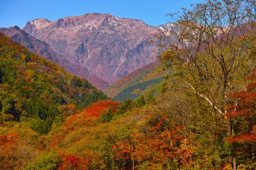 谷川岳と紅葉