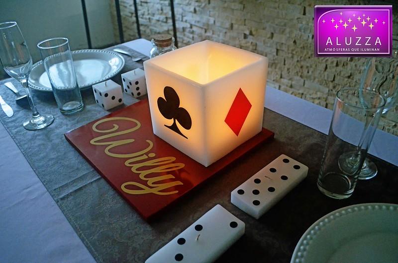 centro de mesa tema casino aluzza
