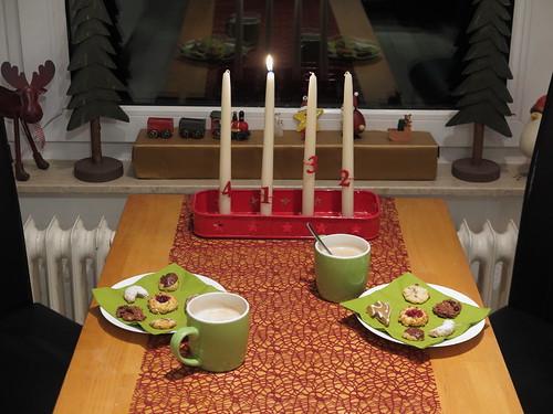 Kaffee mit eigenen Weihnachtsplätzchen am 1. Advent