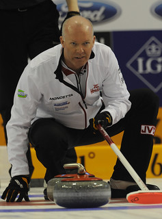 Basel Switzerland.April7-2012.Men's World Curling Championship.Canada skip Glenn Howard.CCA/michael burns photo | by seasonofchampions