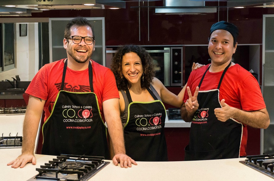 Coty and team from Coco's Cooking School, Playa Del Carmen, Mexico